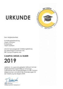 Campus Urkunde Schädlingsbekämpfung Hofmann Oedheim